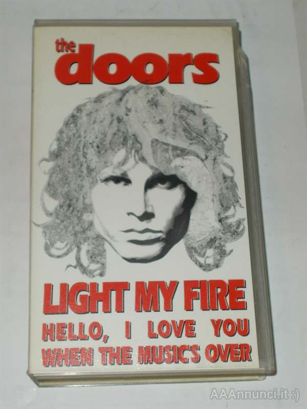 VHS THE DOORS LIGHT MY FIRE ORIGINALE IN INGLESE - 1