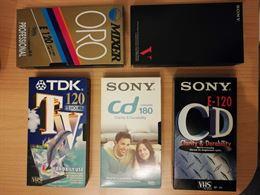 Videocassette VHS da 120, 180, 240 minuti, per registrazioni